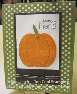 Polka dot - pumpkin card