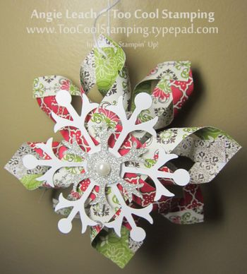 Candlelight snowflake ornament