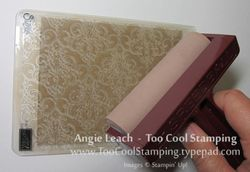Stamped impressions - burnishing