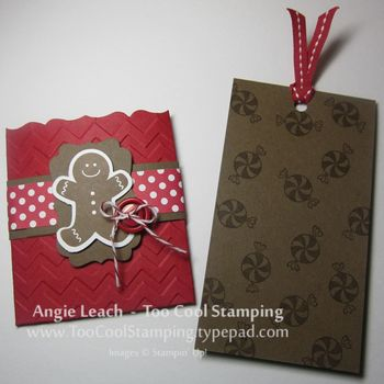 Gingerbread gift card holder open