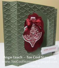 Shadow box card - artichoke standing side