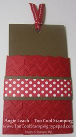 Gingerbread gift card holder back