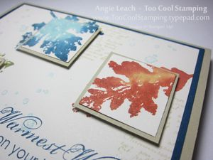 Watercolor leaves trio - straight 2