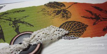 Foliage mask - oranges sponging